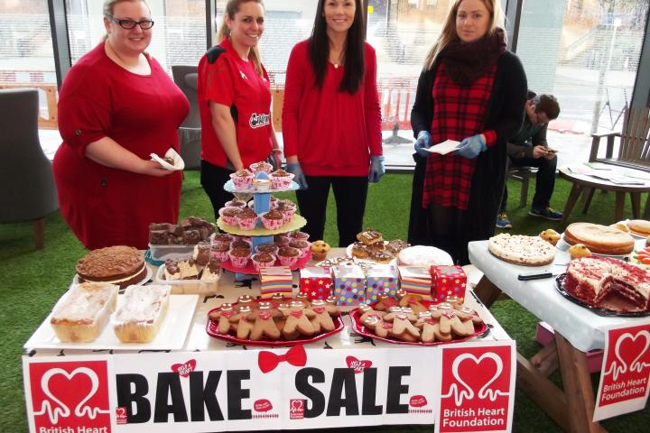Wear it Red Day in support of the British Heart Foundation (BHF). Staff organised a cake sale