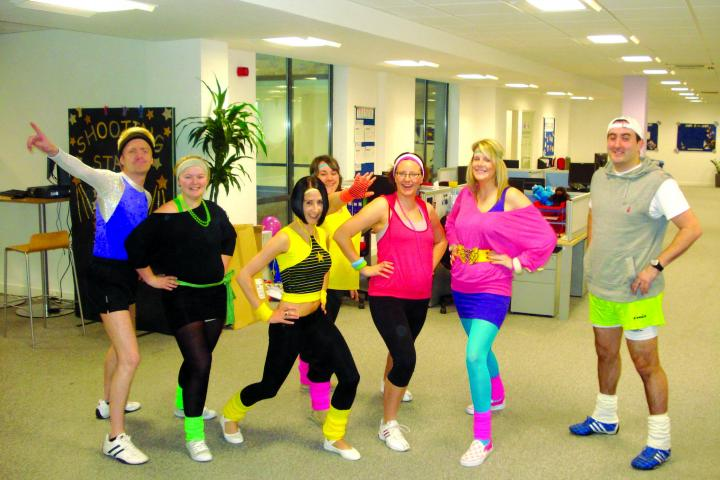 Staff take part in a Ministry of Health inspired dress up day