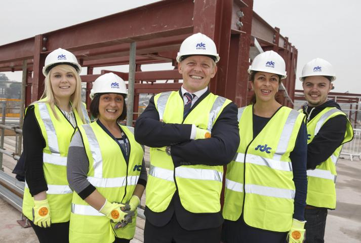 The new Admiral office in Newport city centre is 'topped out'