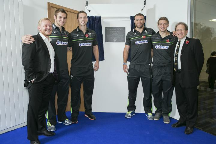 Welsh rugby stars open Admiral House in Newport