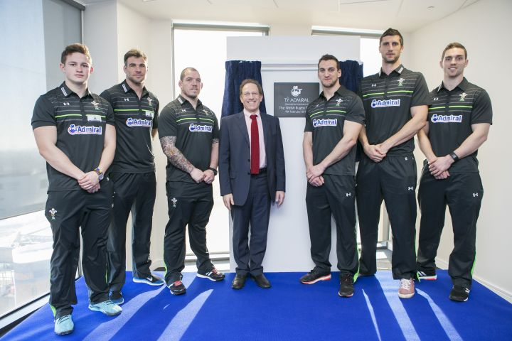 Welsh rugby stars open Admiral headquarters in Cardiff